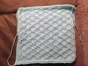 Blanket diamond pattern.