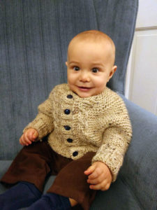 Baby in Baby Cardi Sweater