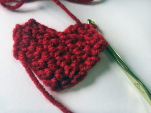 Crochet Heart In Progress